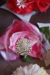 Accessories-Eileen, Pink Flower Rhinestone hair clip, $30
