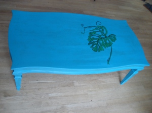 Green Leaf Coffee Table by Yabette