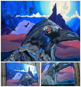 """Raven of Lower World""  16x20"" Acrylic"