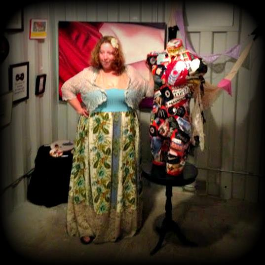 Yabette with The Luscious Bum Project Art installation at HelLO World in LA.
