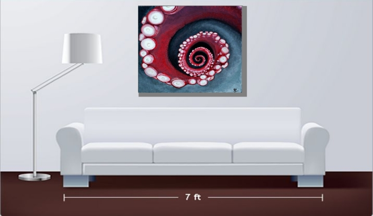 """Spiral"" original is sold, but can be sold as a high quality canvas print as shown here."