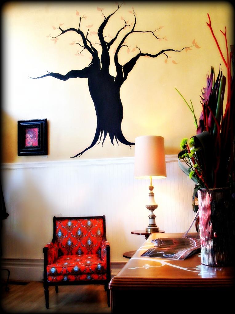 Swankety Swank Tree Mural by Yabette