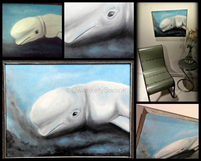 """Beluga Whale"" 18x24"" oil"