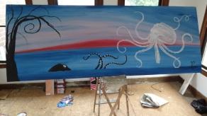 """Celestial Cephalopod 36x96"""""""