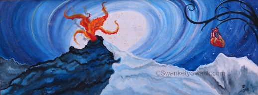 """SOLD Fruit of the Tree of Life Gives Creative Fire 36x96"""""""