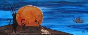 "SOLD Harvest Moon 24x48"""