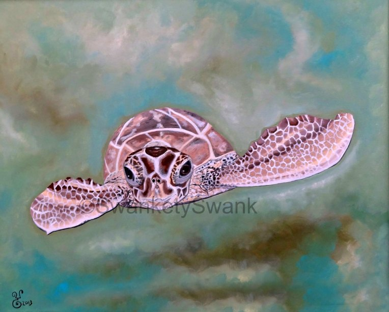 """Sea Turtle"" oil 16x20"""