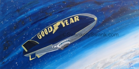 """SOLD """"How Far Will Rubber Take Us?"""" 24x48"""" acrylic on sustainable board painted live at Harvest of Peace Festival in Cuyahoga Falls, Ohio."""