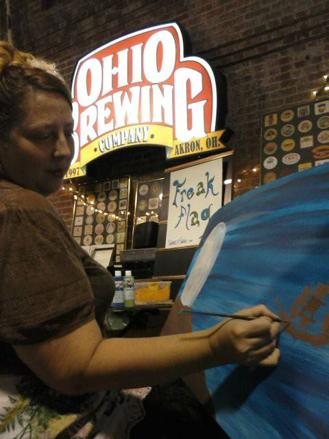 Painting at The Ohio Brewing Company.