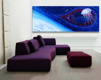 """Astral Jelly 36x96"""" in perspective"""