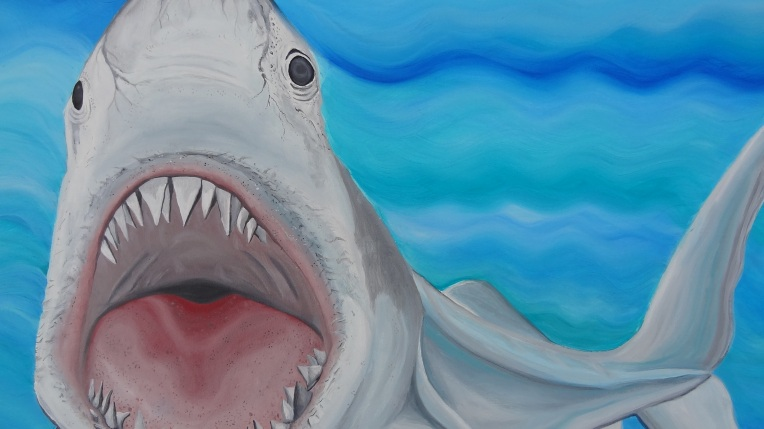 "detail from ""Shark"" oil   30x40"""