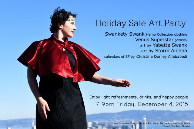 holiday art sale party web