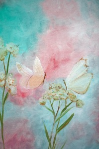 "White Butterflies detail 16x20"""
