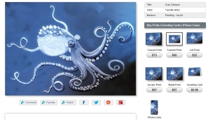 """Gray Octopus"" by Yabette in many forms."