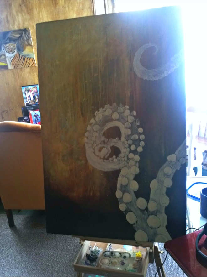 tentacles abstract progress