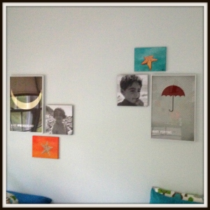 Kids room art collage
