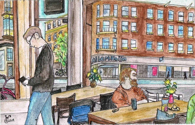 """The Coffee Company in Amsterdam"" is sold, but 14 other originals will be available with gorgeous custom frames."