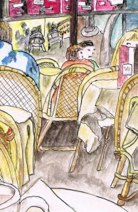 "Cropped from the ""Bistro de Tour Eiffel"" in Paris by Yabette Alfaro"
