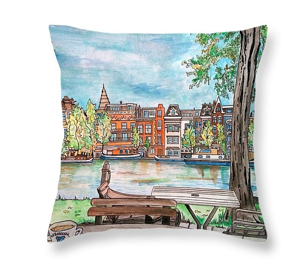 "Isn't that the cutest Throw pillow from ""Deysbreeker, Amsterdam"" by Yabette Alfaro?"