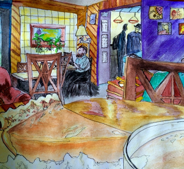 "Get a piece of pie!! ""Angel Falls"" watercolor  by Yabette"