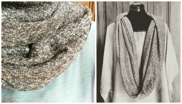 storm gray infinity scarf collage