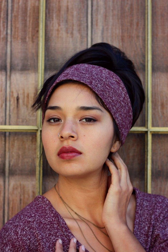 swankety swank hemp collection burgundy headband 1