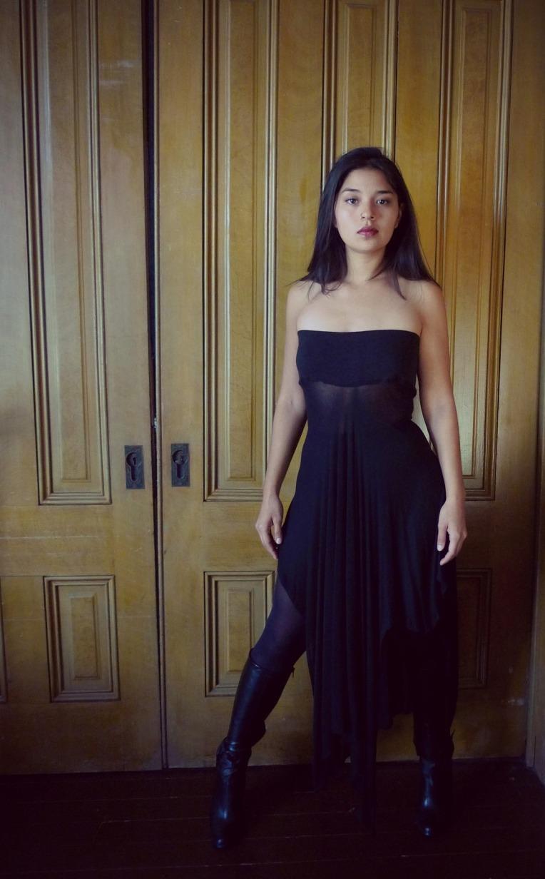 Swankety Swank hemporganic cotton black skirt dress7